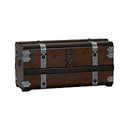 Household Essentials® Steel Band Wooden Storage Trunk