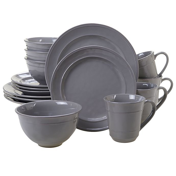Alternate image 1 for Certified International Orbit 16-Piece Dinnerware Set in Grey