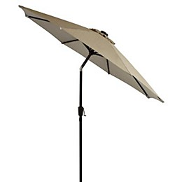 9-Foot Round Solar Aluminum Patio Umbrella
