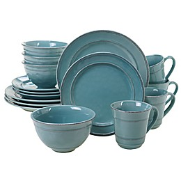 Certified International Orbit 16-Piece Dinnerware Set in Teal