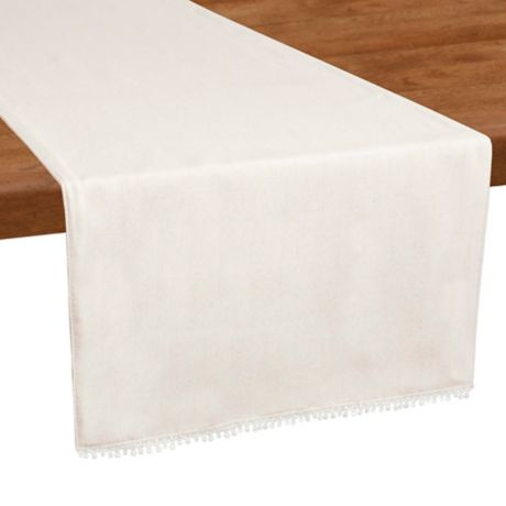 Lenox 174 French Perle Table Runner In Natural Bed Bath