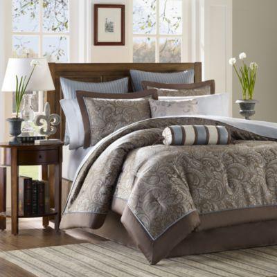 Aubrey 12 Piece Jacquard Comforter Set Bed Bath Beyond