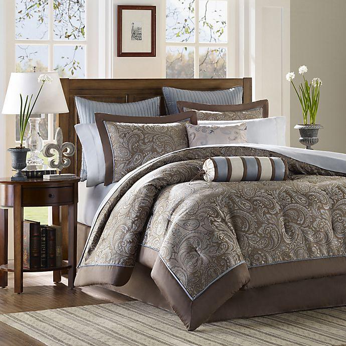 Alternate image 1 for Madison Park Aubrey 12-Piece Reversible California King Comforter Set in Blue