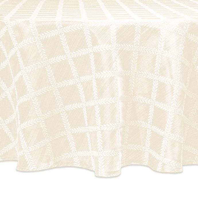 Lenox 174 Laurel Leaf Table Linen Collection In White Bed