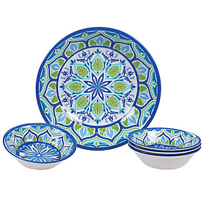 Certified International Morocco 5-Piece Salad/Serving Set in Blue