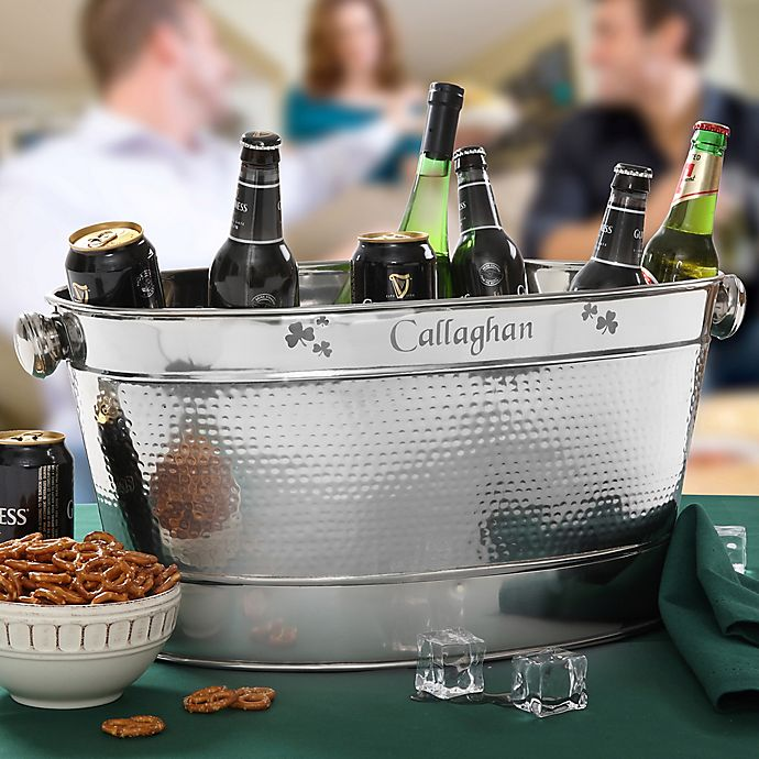 Alternate image 1 for Irish Cheer Stainless Steel Party Tub