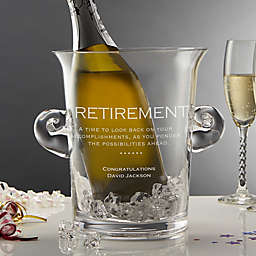 Retirement Crystal Chiller and Ice Bucket