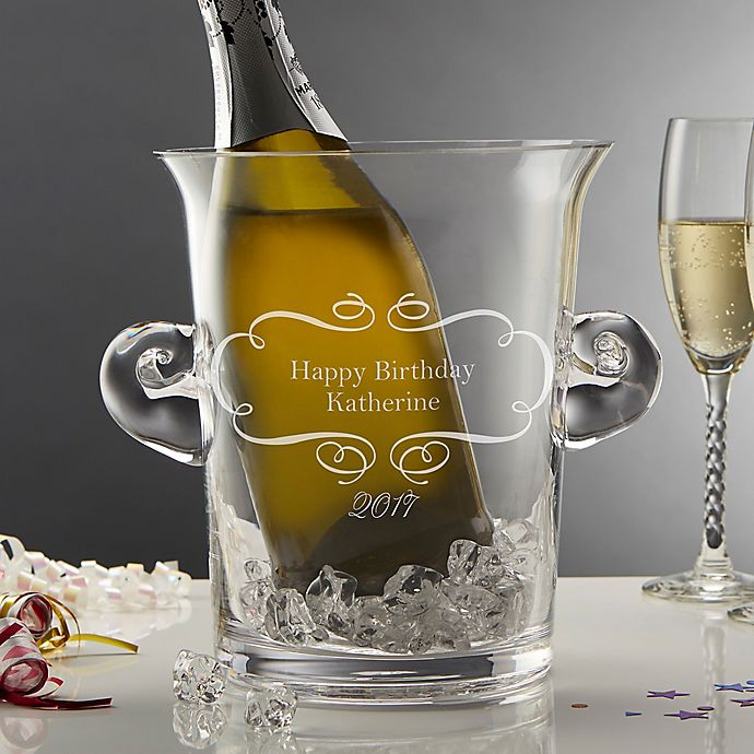 Alternate image 1 for Birthday Wishes Crystal Ice Bucket and Chiller