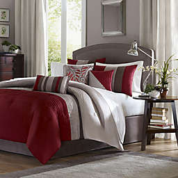 Madison Park Amherst  7-Piece Comforter Set in Red