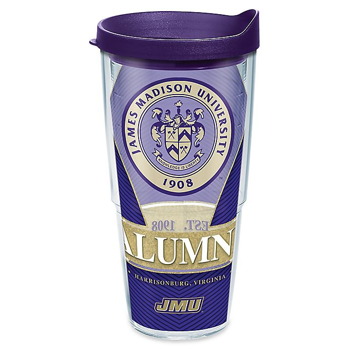 Alternate image 1 for Tervis® James Madison University Alumni 24 oz. Wrap Tumbler with Lid