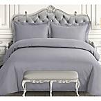Tribeca Living 600-Thread-Count Queen Duvet Cover Set in Silver Grey