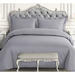 Tribeca Living 3-Piece 600-Thread-Count Duvet Cover Set