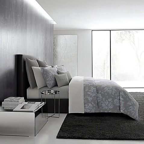 Vera Wang™ Transparent Leaves Duvet Cover Set