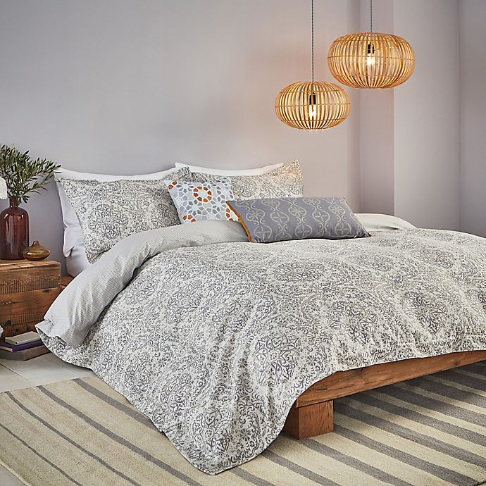 Alternate image 1 for Bedeck Minoa Full/Queen Comforter Set in Grey