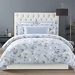 Christian Siriano Soft Floral Comforter Set in Grey
