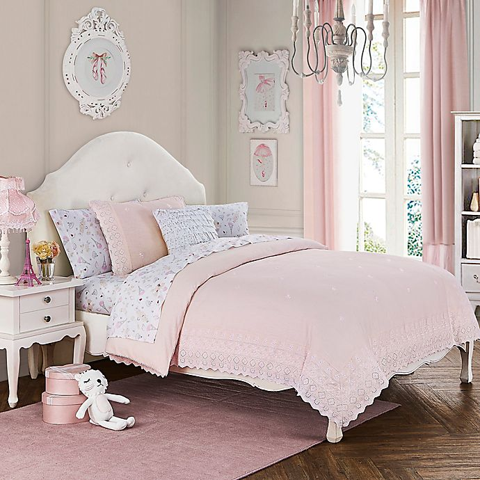 Alternate image 1 for Cloud Company Amelia 2-Piece Twin Comforter Set in Pink