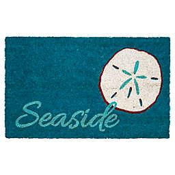 """Entryways Seaside 17"""" x 28"""" Coir Door Mat in Blue"""