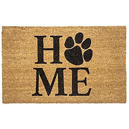 """Entryways Pet Home 17"""" x 28"""" Coir Door Mat in Black"""