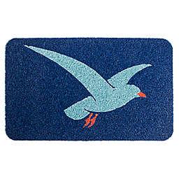 "Entryways Elegant Seagull 18"" x 30"" Coil Door Mat in Blue"