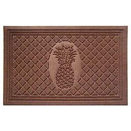 """Entryways Weather Beater Pineapple 22"""" x 35""""  Door Mat in Chocolate"""