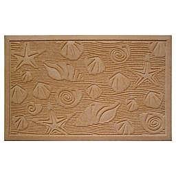 """Entryways Weather Beater Seashells 22"""" x 35"""" Door Mat in Sand"""