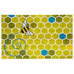 """Entryways Honeycomb 17"""" x 28"""" Coir Multicolor Door Mat"""