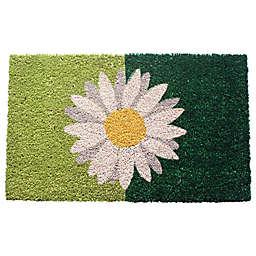 "Entryways Daisy 17"" x 28"" Coir Multicolor Door Mat"