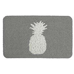 "Entryways Delicious Pineapple 18"" x 30"" Coil Door Mat in Grey/White"