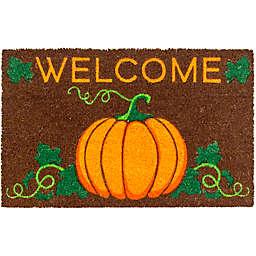 Entryways® Welcome Pumpkin Coir Non-Slip Door Mat