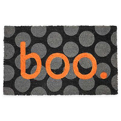 "Entryways Boo 17"" x 28"" Coir Multicolor Door Mat"