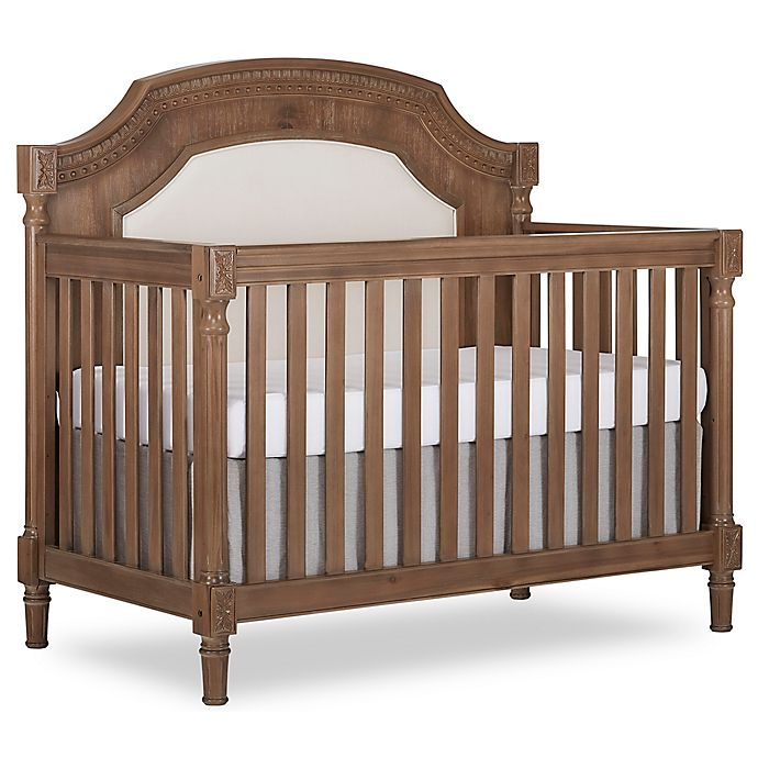 Alternate image 1 for evolur™ Julienne 5-in-1 Convertible Crib in Toffee/Brushed White