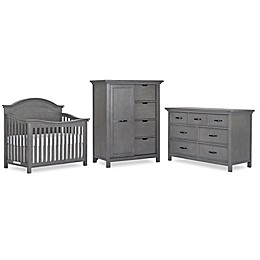 evolur™ Belmar Curved Top Nursery Furniture Collection in Rustic Grey