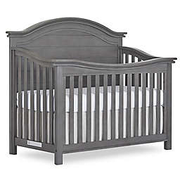 evolur™ Belmar Curved Top 5-in-1 Convertible Crib in Rustic Grey