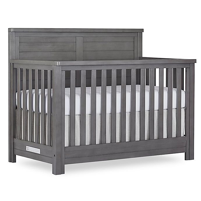 Alternate image 1 for evolur™ Belmar Flat Top 5-in-1 Convertible Crib in Rustic Grey