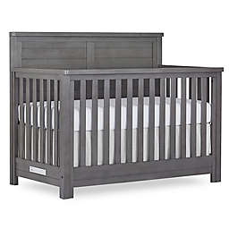 evolur™ Belmar Flat Top 5-in-1 Convertible Crib in Rustic Grey