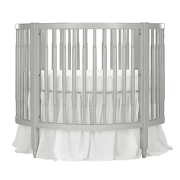 Dream On Me Sophia Posh Circular Crib In Silver Pearl Bed Bath