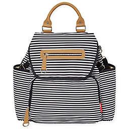 SKIP*HOP® Grand Central Take it All Backpack Diaper Bag in Black Stripe