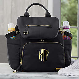 SKIP*HOP® Chelsea Downtown Chic Personalized Backpack Diaper Bag in Black