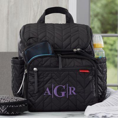 Skip Hop 174 Forma Personalized Backpack Diaper Bag In Jet
