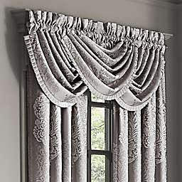 J. Queen New York™ La Scala Rod Pocket Waterfall Window Valance in Silver