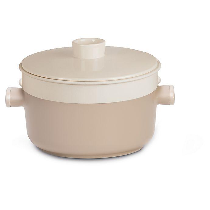 Alternate image 1 for TVS TEA Nonstick 9.5-Inch Aluminum Dutch Oven in White
