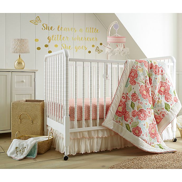 17 Adorable Ways To Decorate Above A Baby Crib: Levtex Baby Charlotte Crib Bedding Collection
