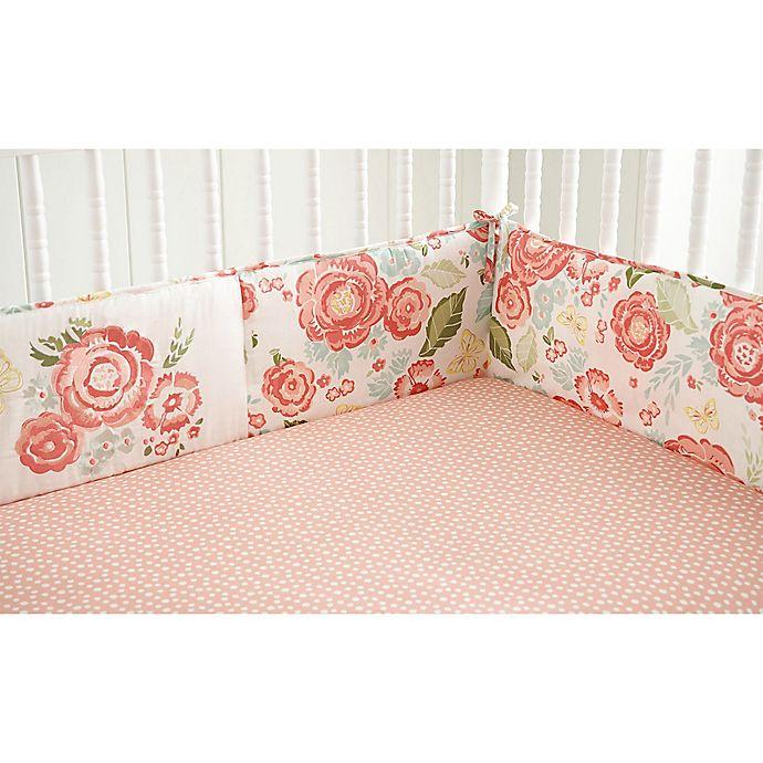 Alternate image 1 for Levtex Baby® Charlotte 4-Piece Crib Bumper Set in Pink