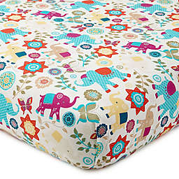 Levtex Baby® Zahara Elephant Print Fitted Crib Sheet