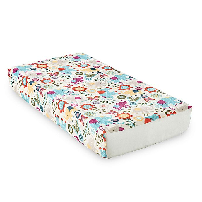 Alternate image 1 for Levtex Baby® Zahara Elephant Print Velour Changing Pad Cover
