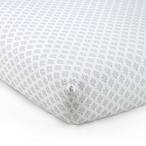 Levtex Baby® Baby Ely Scroll Print Fitted Crib Sheet in Grey