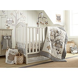 Levtex Baby Night Owl Crib Bedding Collection in Grey/Taupe
