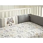 Levtex Baby Night Owl 4-Piece Crib Bumper Set in Grey/Taupe