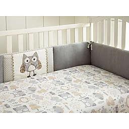 Levtex Baby® Night Owl 4-Piece Crib Bumper Set in Grey/Taupe