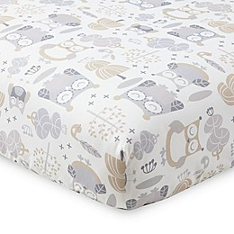 Levtex Baby® Night Owl Fitted Crib Sheet in Grey/Taupe